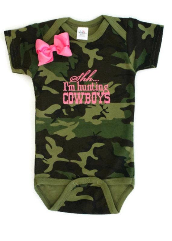 Baby Girls Embroidered Bodysuit Shh I m by AllThatSassB
