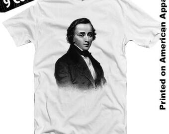 Chopin American Apparel T-shirt S-XXL Classical Music, Beethoven, Liszt, Bach, Tchaikovsky, Piano, Violin, Sonata, Symphony Genius, Cool