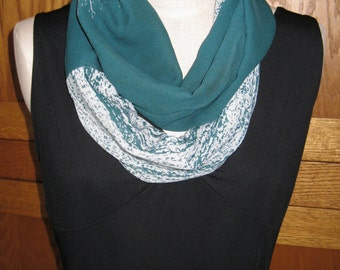 FREE SHIPPING**Infinity Scarf Snow on the Grass