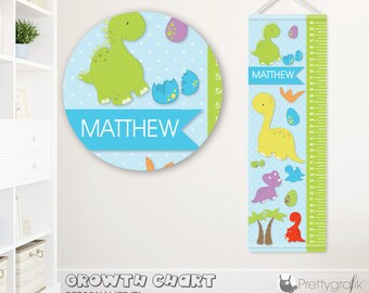 SALE Dinosaurs Growth Chart, personalized Growth Chart,Kids Room decor, custom wall hanging, custom Growth Chart for children - GC104
