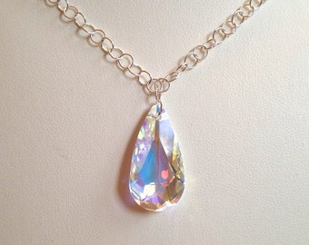 Swarovski Crystal AB Teardrop Necklace