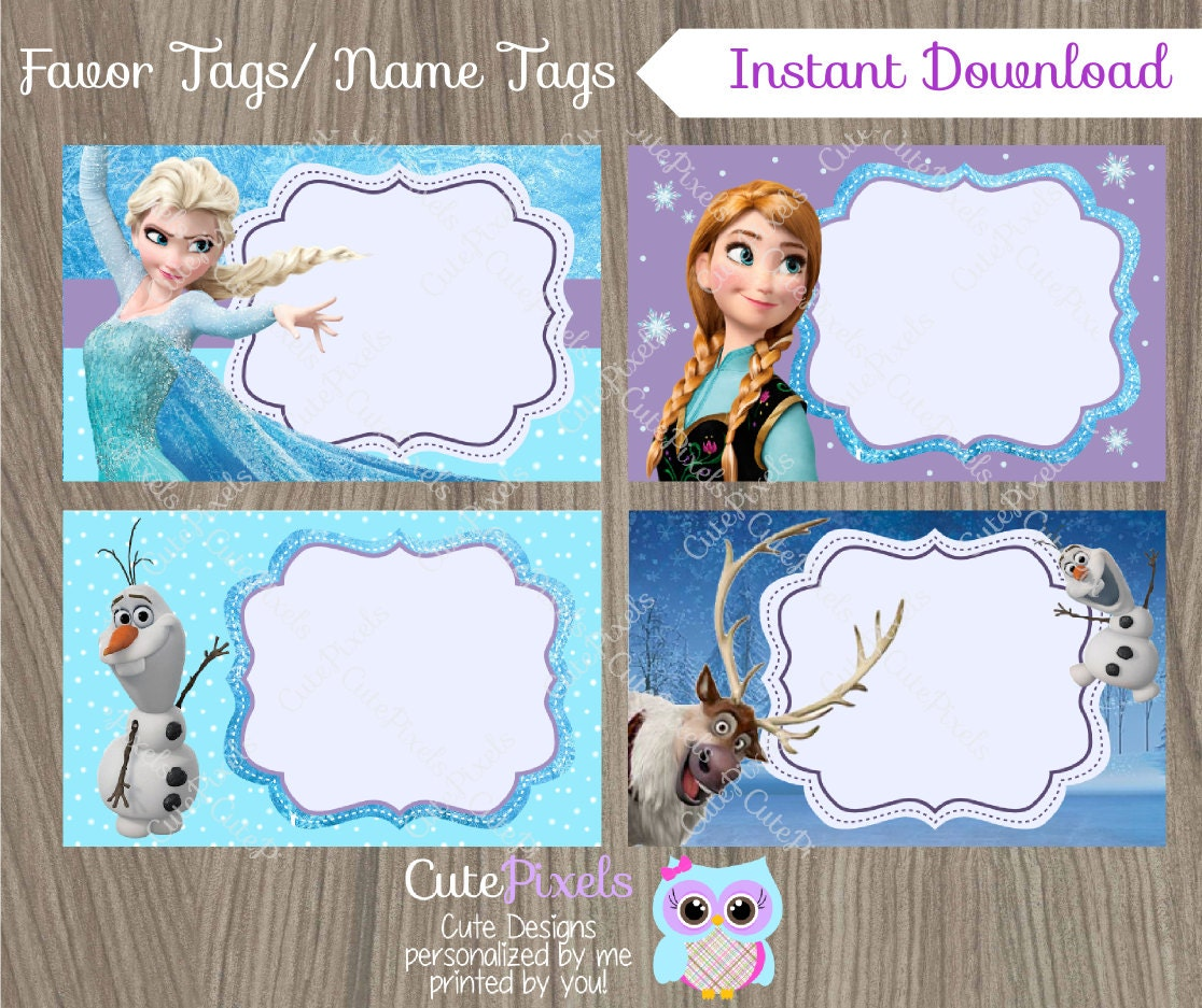 This is an image of Superb Frozen Printable Labels