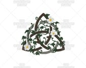 Earth Triquetra Pagan Celtic Stylized Sacred Symbol Machine Embroidery Pattern Design