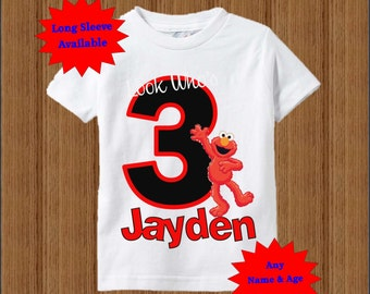 Elmo Birthday Shirt - Boys Birthday Shirt