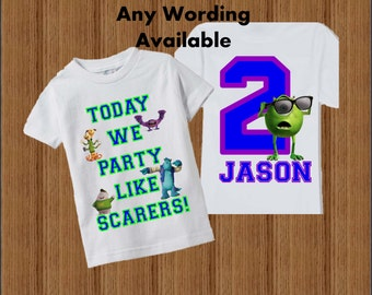 Monsters University Birthday Shirt - Monsters Inc Shirt
