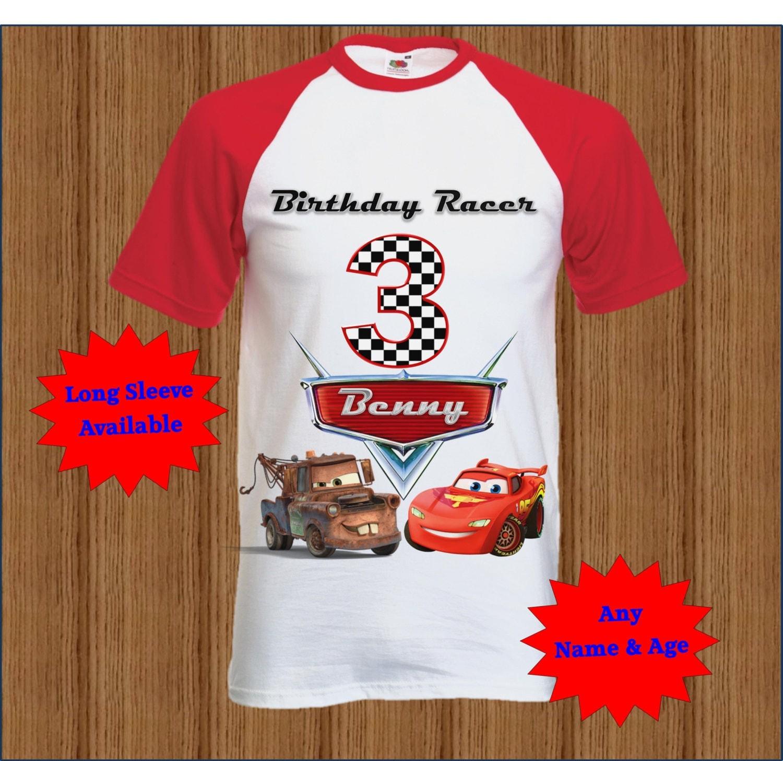 Disney Cars Birthday Shirt Boys Raglan Shirt By