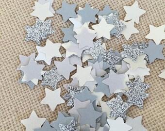 Twinkle Twinkle Little Star Silver Glitter Confetti, Star Confetti, Baby Shower, Wedding Confetti, Party Confetti,Silver Confetti,Paper Star