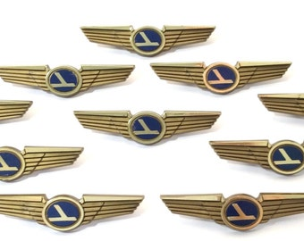10 Kids Vintage EASTERN AIRLINES Stoffel Seals Airplane Pilot Wing Pins Party Favors (Featured in Town and Country Magazine)