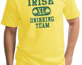 St Patrick's Day Men's Shirt Irish Drinking Team Tall Tee T-Shirt A8727D-PC61T