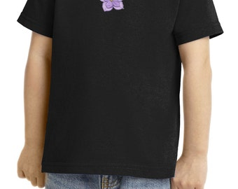 Toddler's Shirt Layered Flower Patch Tee T-Shirt LAYEREDFLOWER-CAR54T