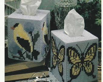 Bird and Butterfly tissue boxes