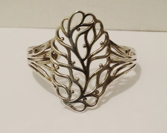 Sterling 31 grams adjustable Cuff Bracelet.