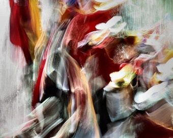 Carnival dream - Abstract Photography, Carnival of Rijeka, Wall Art Decor, Color photo, Long exposure, Rijeka, Croatia, Photo, Movement, Red