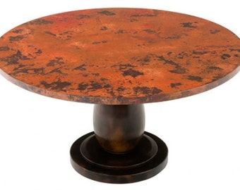 Reclaimed Copper Pedestal Table