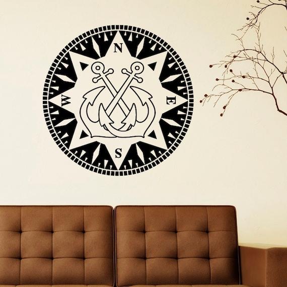 nautical anchor wall decal vinyl sticker anchor wall art home. Black Bedroom Furniture Sets. Home Design Ideas