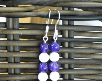 Purple and White Dangle