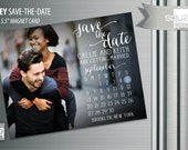 Save the Date Calendar Photo Magnets - Custom Save-the-Date Photo Magnet Cards - RIDLEY style Magnetic Cards - Bespoke Engagement