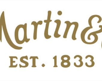 CF Martin Guitar company Logo Decal Sticker window Vinyl Car case acoustic play country 6 string music