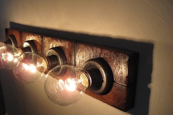 bathroom vanity light fixture for wall mirror by mittenhandmade. Black Bedroom Furniture Sets. Home Design Ideas