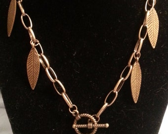 OOAK Steampunk Feather Necklace