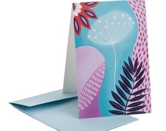 Multipurpose card. White Dandelion. Good news. Positive vibes. Serenity message. For her, for children