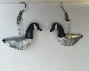 Canada Goose earrings (Branta canadensis)