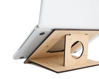 Flio - Ultra Portable and Lightweight Laptop Stand - Bamboo