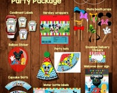 MICKEY MOUSE CLUBHOUSE Party bundle package-  Digital File