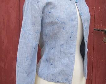 SALE Ventilo Linen Vintage Blue jacket