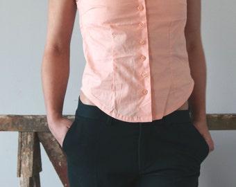 SALE --50% OFF Salmon spring-summer Shirt top.