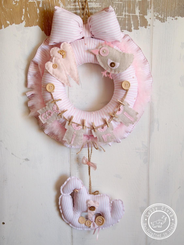 Hospital door hanger decoration baby girl birth by for Baby girl hospital door decoration