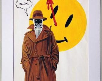 Watchmen. Rorschach. Original acrylic painting.