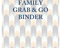 SALE!!! Family Grab & Go Emergency Important Documents Binder PDF
