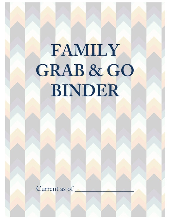 Family grab go emergency important documents binder pdf for Important family documents binder