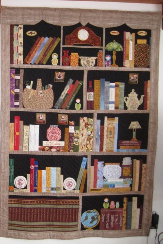 how to make a bookshelf quilt