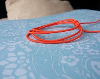Elastic Cord in Clementine Orange (2mm)