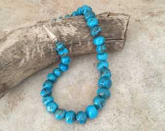 Blue Turquoise hand-made round beads