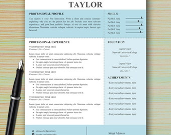 Floral CV template Alib