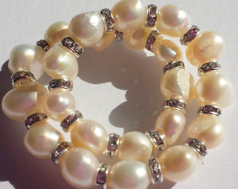 Freshwater Pearl stretch Bracelet- Made to Order