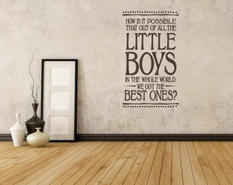 We Got The Best Boys Wall Quote - Wall Decals - Wall Quote Decals - Brother Quotes - Wall Murals - Boys Room Decor - Door Decals