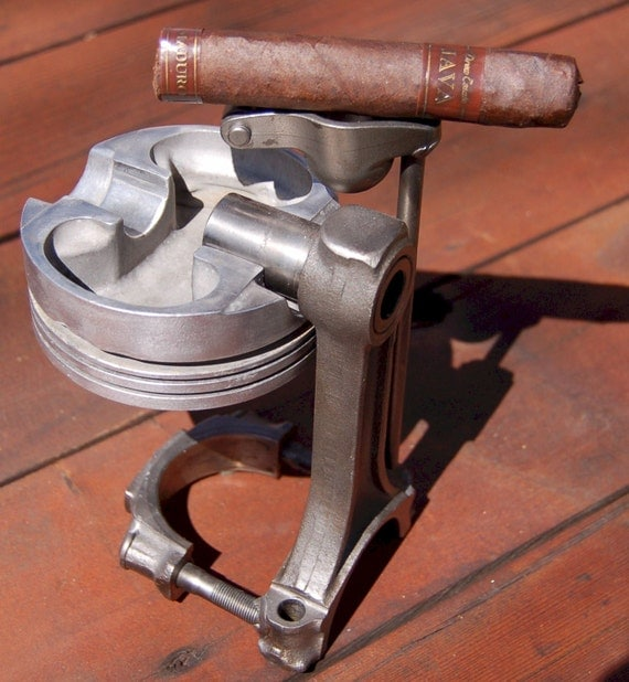 Cigar ashtray made from jeep engine parts automotive car for Auto p garage roussillon