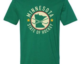 """Minnesota Wild """"State of Hockey"""" custom t-shirt"""
