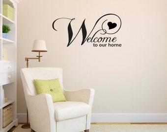 Welcome to Our Home Wall Decal - Vinyl Wall / Door Quote