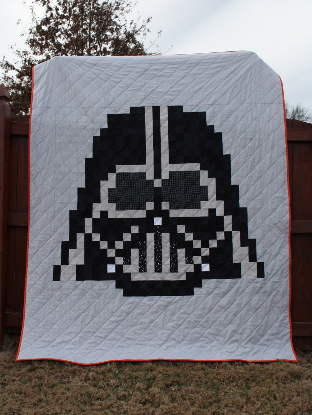 Quilt Patterns For A Man : The Dark Side Quilt Pattern An Unofficial Darth Vader/Star