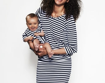 Breastfeeding dress/ Nursing dress/ Maternity/ Striped dress/ Free Shipping