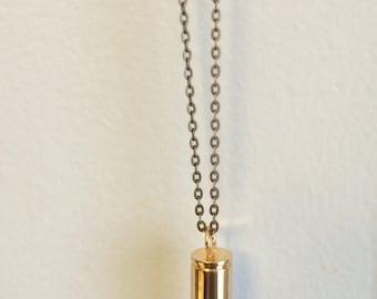 Amethyst Crystal Bullet Necklace