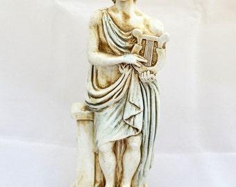 Apollo Ancient Greek God of light, sun, music, poetry sculpture statue