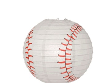 """14"""" Baseball Paper Lantern....Parties...Decorations....Sports.....Birthday Party"""