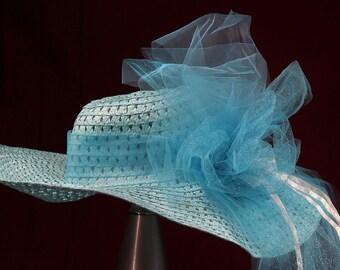 Baby Blue Floppy Hat