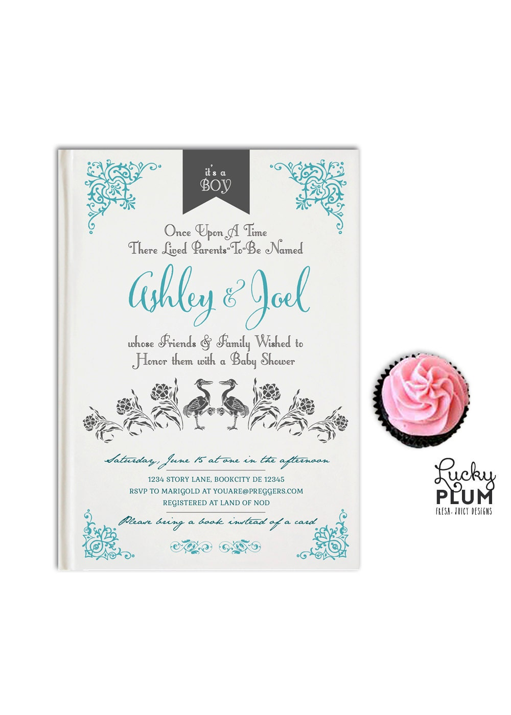 storybook baby shower invitation book baby invitation once